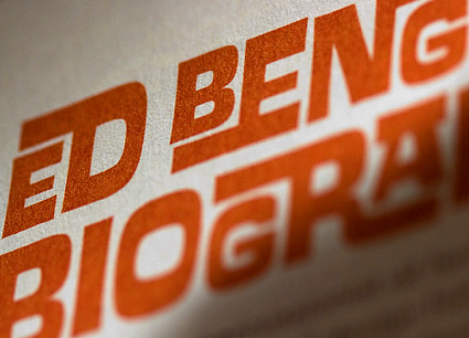 Ed Interlock from the Ed Benguiat font family by House Industries