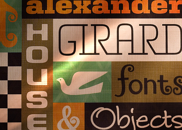 Collage of Girard font family, House Industries