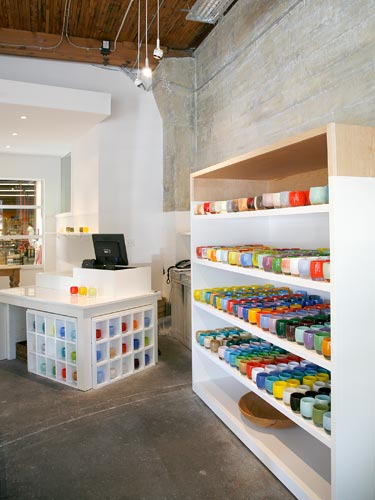 The glassybaby store and studio