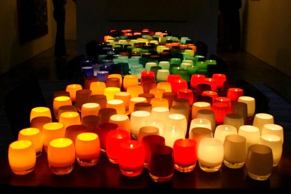 The warm glow of glassybaby