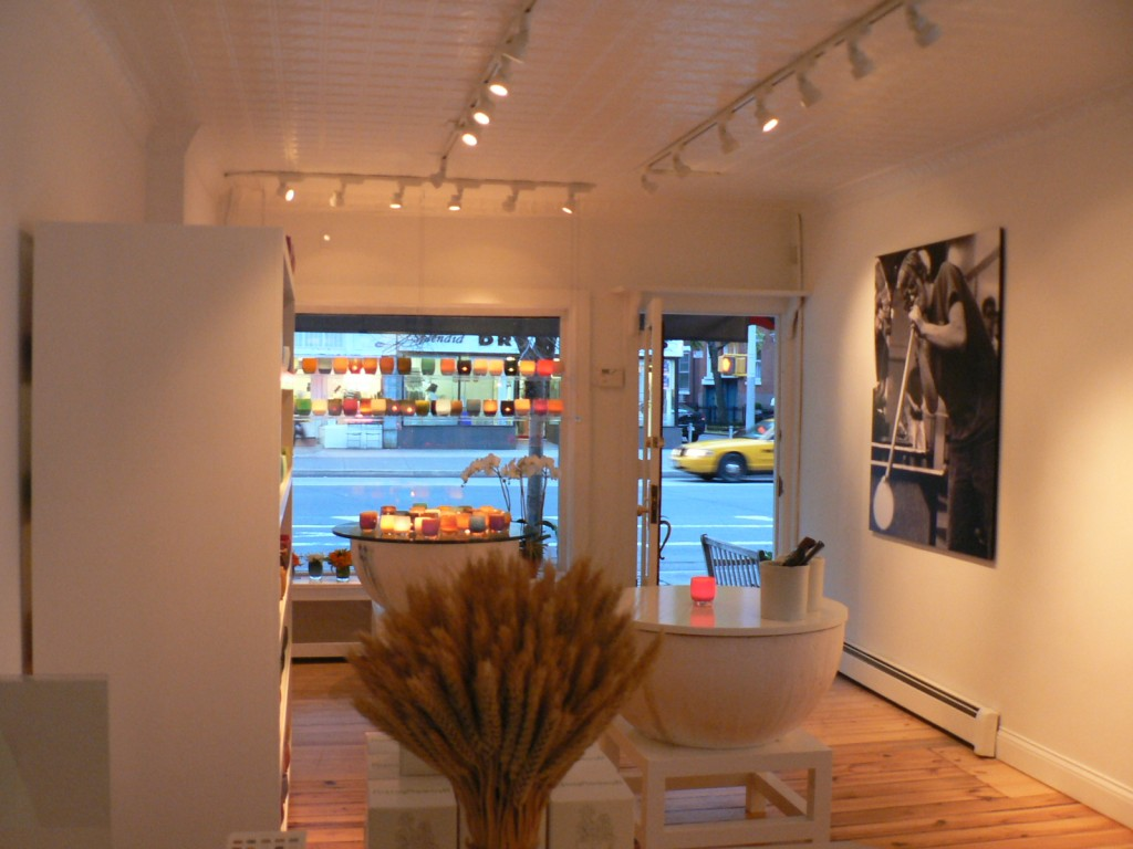 New glassybaby shop at 555 Hudson Street in New York