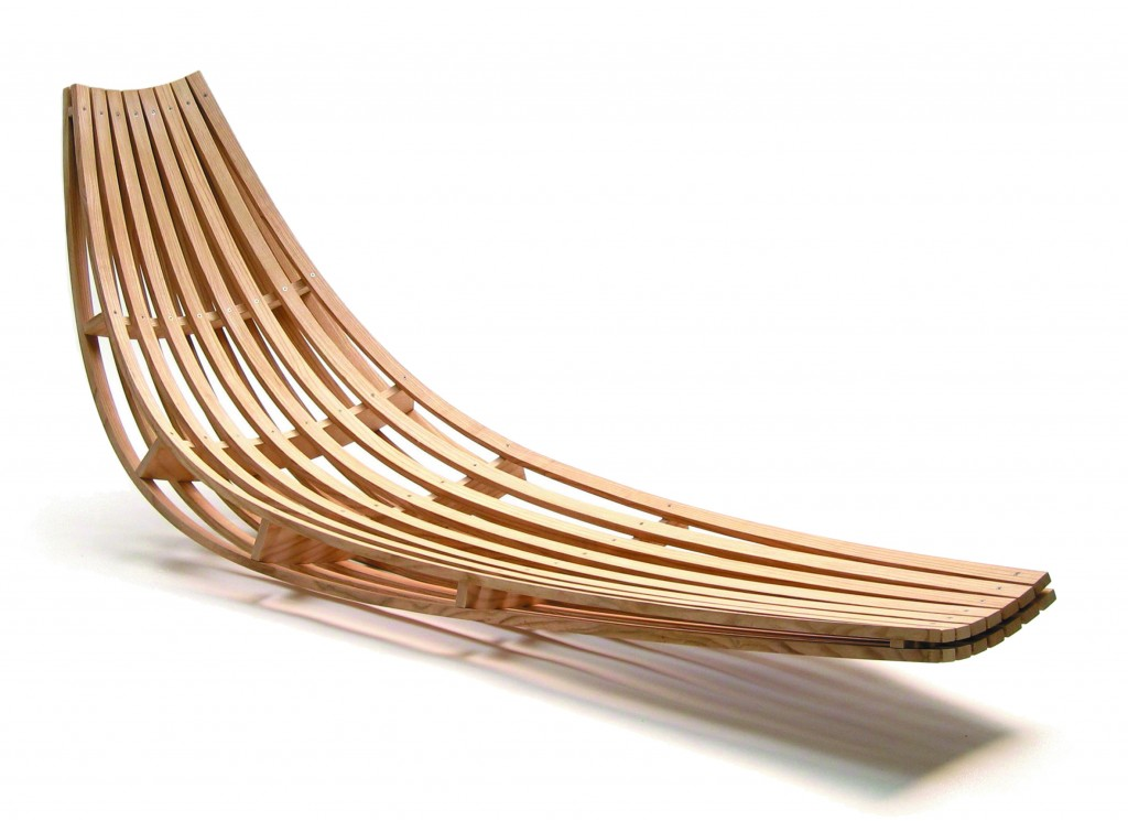 Glide lounger by David Trubridge
