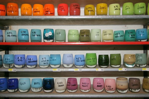 Reference glassybaby by color