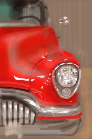 1954 Buick Skylark, iPhone painting by Xoan Baltar