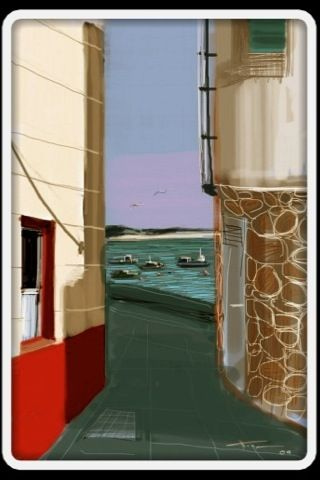 Another Corrubedo Scene, iPhone painting by Xoan Baltar