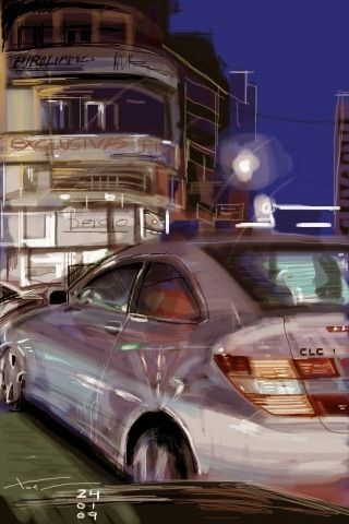 Calle Progreso Rúa da Concordia, iPhone painting by Xoan Baltar