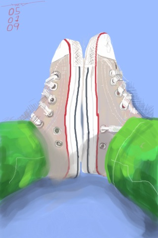 My Converse, iPhone painting by Xoan Baltar