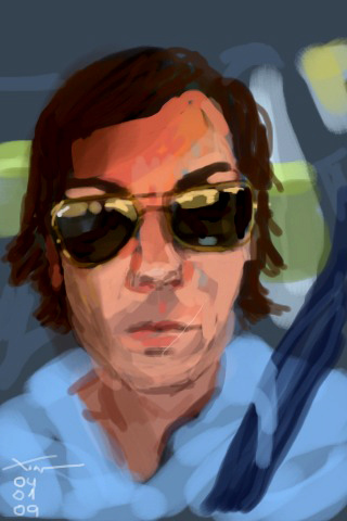 Self-portrait on iPhone by Xoan Baltar