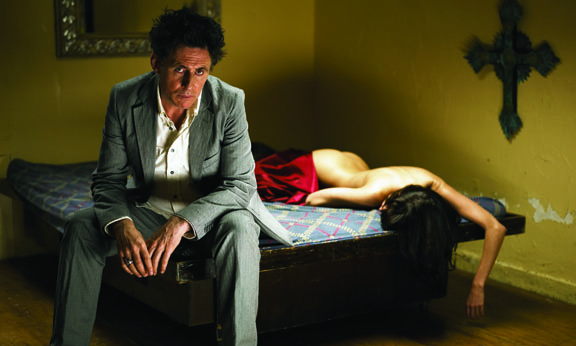 Photograph of Gabriel Byrne for CP Company by Roberto Dutesco