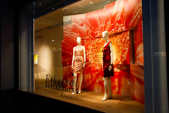Ethereal Reflections windows at Lord & Taylor by Roberto Dutesco