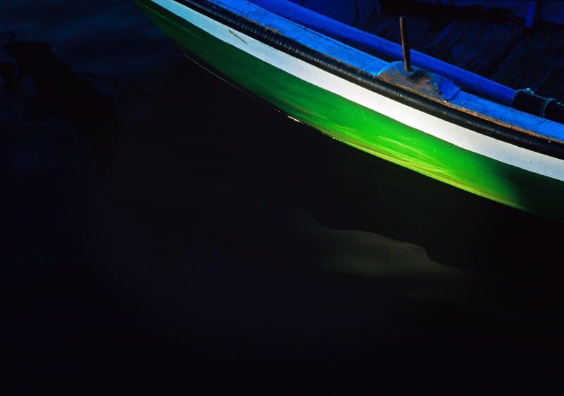 Boat in Tavira, Portugal - photograph by Jim Nilsen