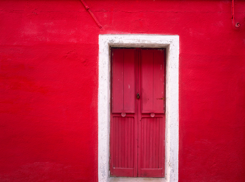 Door in Burano, Italy - photograph by Jim Nilsen