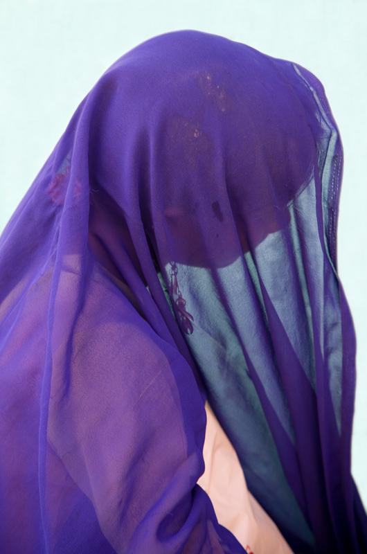 Veiled woman in Mandawa, Rajasthan, India - photograph by Jim Nilsen