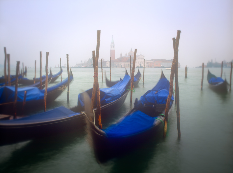 Gondolas in Venice, Italy - photograph by Jim Nilsen