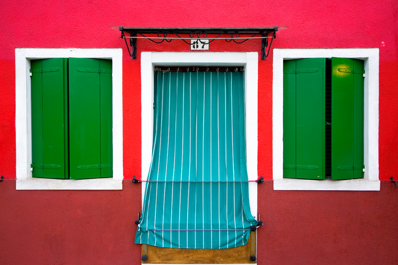 Burano, Italy - photograph by Jim Nilsen