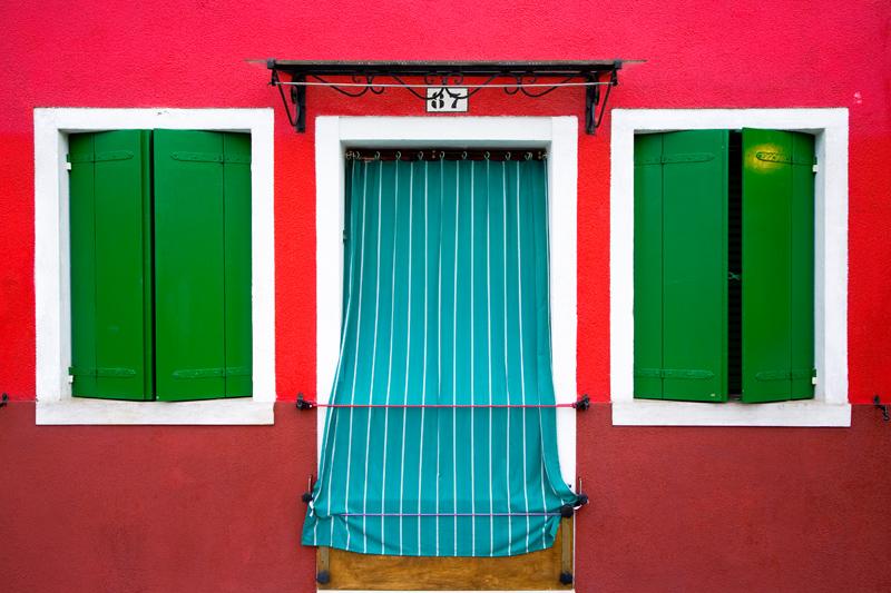 Burano, Italy - photograph by Jim Nilsen