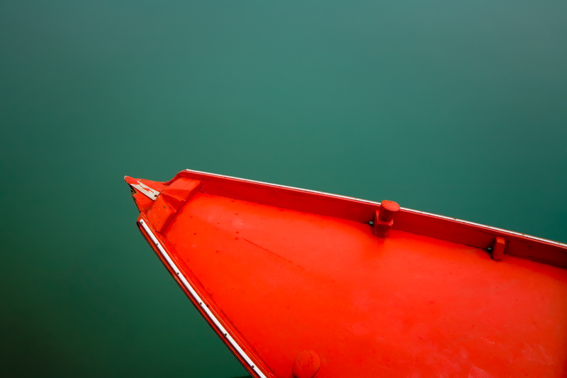 Boat in Burano, Italy - photograph by Jim Nilsen