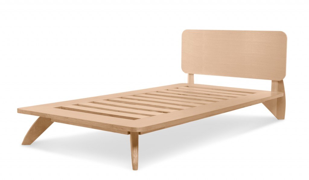 Twin platform bed by Edgar Blazona for TrueModern