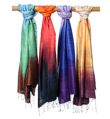 Dip dyed silk scarves, Fall/Winter '08 Roberta Freymann collection
