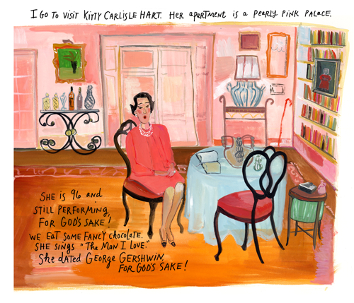 Visit with Kitty Carlisle by Maira Kalman