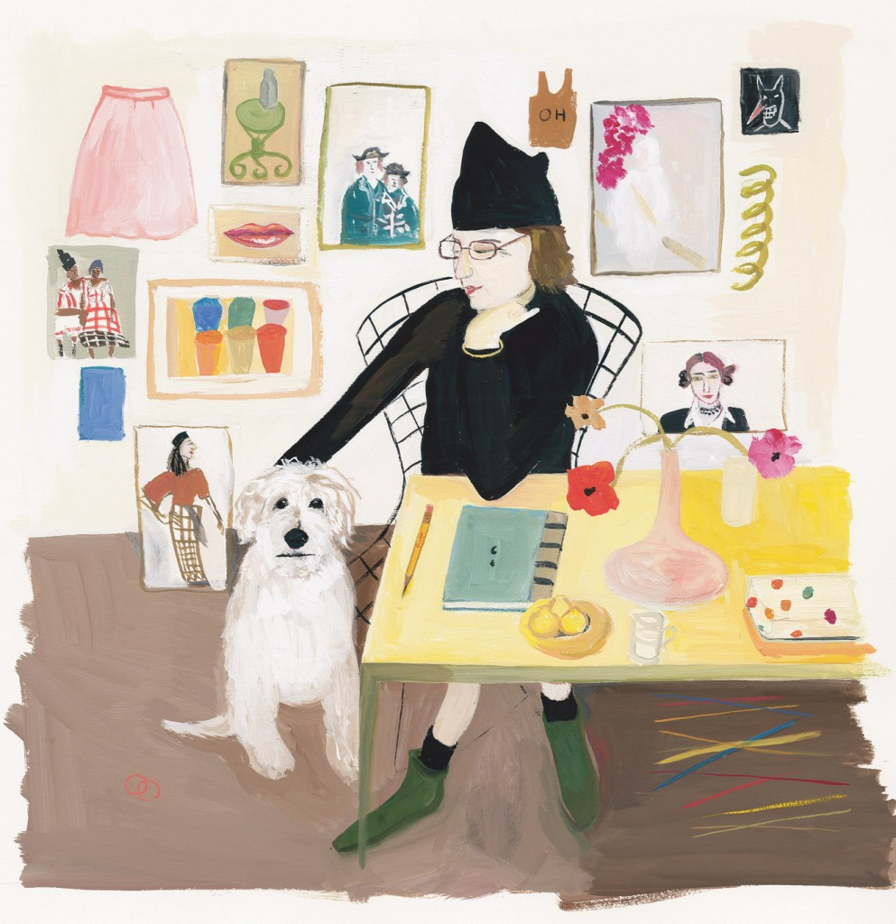 Maira and Pete, illustration by Maira Kalman