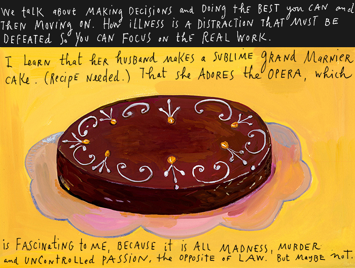 Ruth and cake by Maira Kalman
