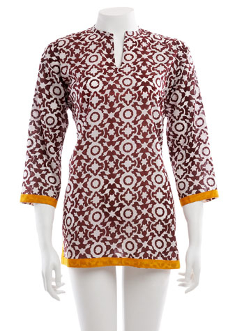 Classic kurta in Elsa brown, Roberta Roller Rabbit