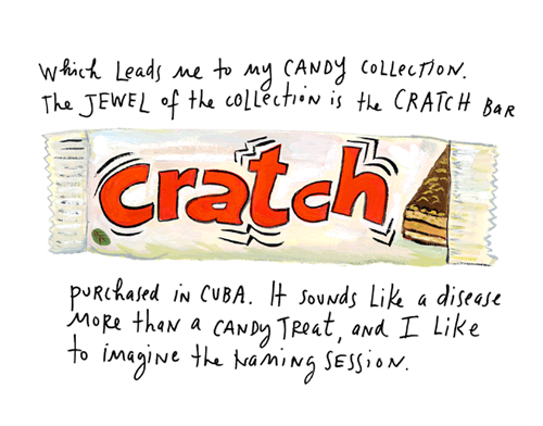 Cratch candy bar, by Maira Kalman