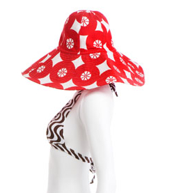 Floppy beach hat in Dorothea red, Roberta Roller Rabbit line