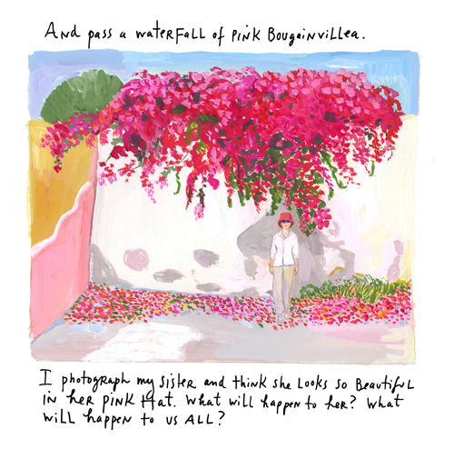 Sister by bougainvillea, by Maira Kalman