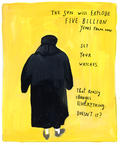 The sun will explode, by Maira Kalman