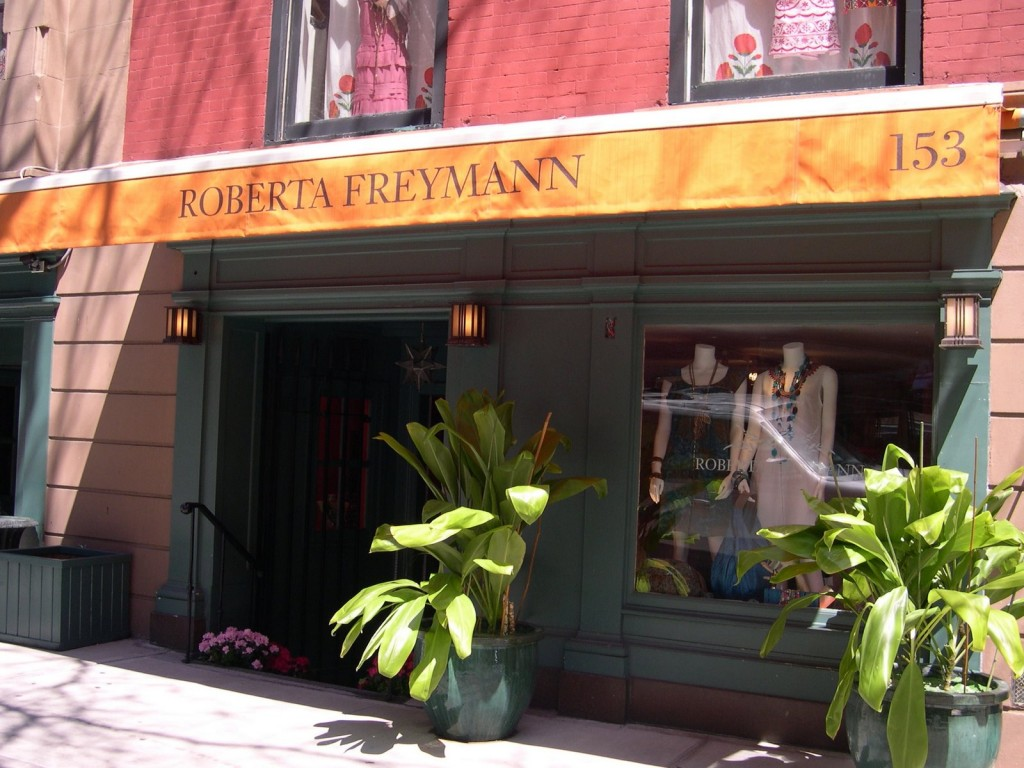 Current Roberta Freymann boutique at 153 East 70th in New York City
