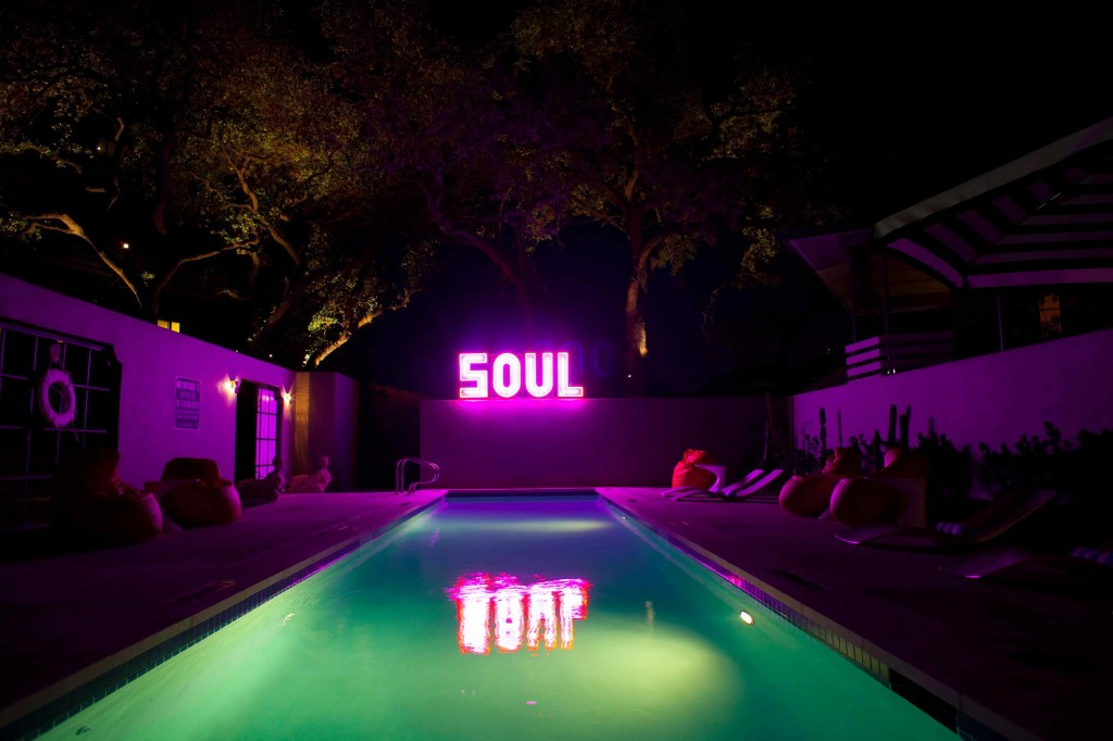 Swimming pool with soul at Hotel St. Cecilia in Austin, Texas