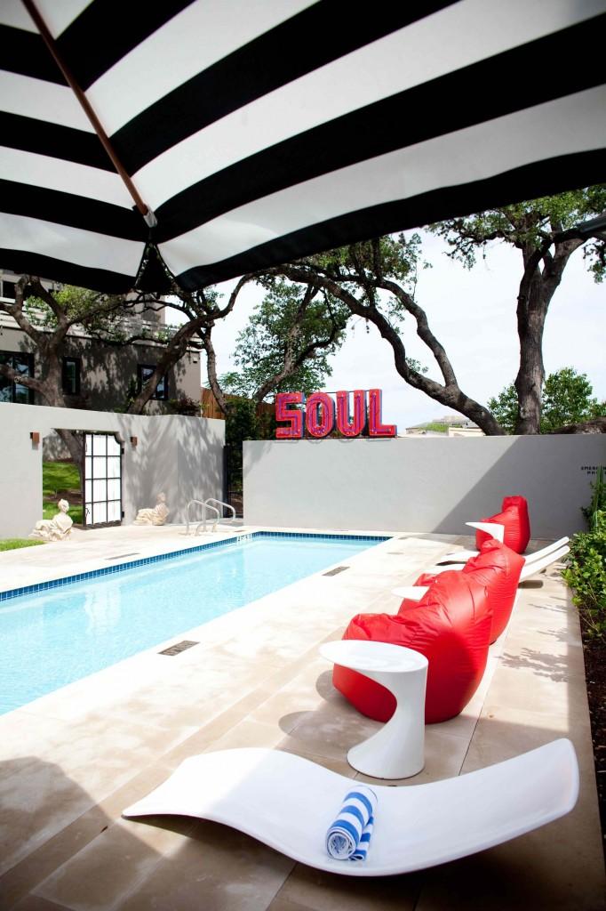 Pool at Hotel Saint Cecilia, property of Liz Lambert