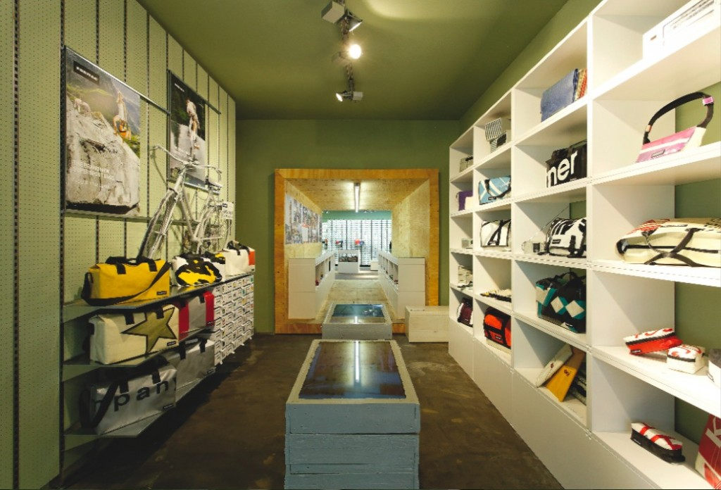 Interior of FREITAG shop in Koln/Cologne