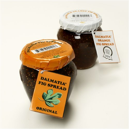 Dalmatia fig spread (orange label on lid)